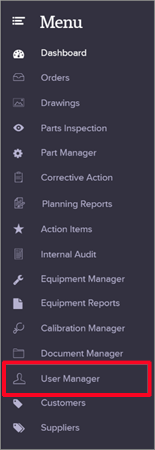 Adding A Single New User User Manager Quality Management Software