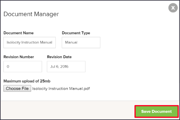 Document Manager Save Document Quality Management Software