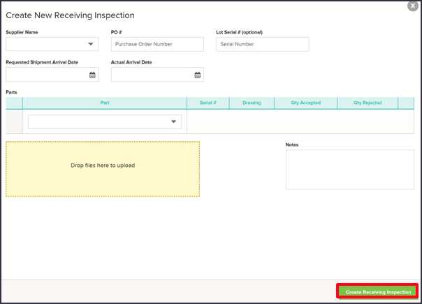 Supply Chain Management Receiving Inspections Quality Management Software