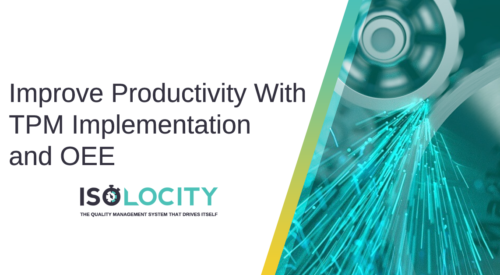 Improve Productivity With TPM Implementation and OEE